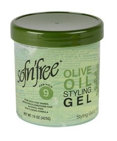 Sof n Free Olive Oil Hair Styling Gel Firm Hold 15oz