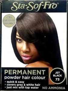 Sta Sof Fro Permanent Powder Hair Colour Jet Black