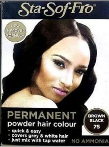 Sta Sof Fro Permanent Powder Hair Colour Brown Black