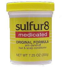Sulfur8 Original Formula Anti-Dandruff Hair & Scalp Conditioner Jar 7.5oz
