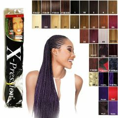 XPression Ultra Braid Twist Plaits Synthetic Braiding Bulk Hair Extension