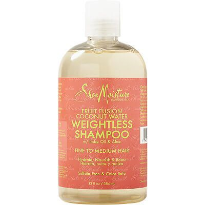 Shea Moisture Fruit Fusion Weightless Coconut Water Shampoo 13oz
